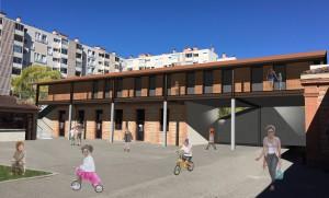 Projet de suélévation de l'actuel bâtiment des CE. Début des travaux mars 2018.